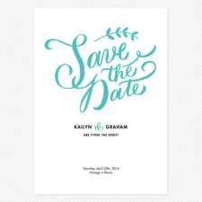 Lovely Lettering Save the Date Cards