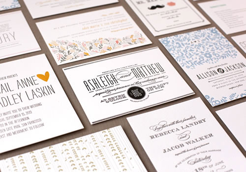 Minted Letterpress Wedding Invitations
