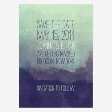 Pretty Lights Save the Date Cards