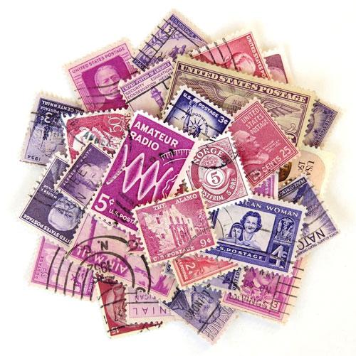 Vintage Postage Stamps from Saturday Morning Vintage