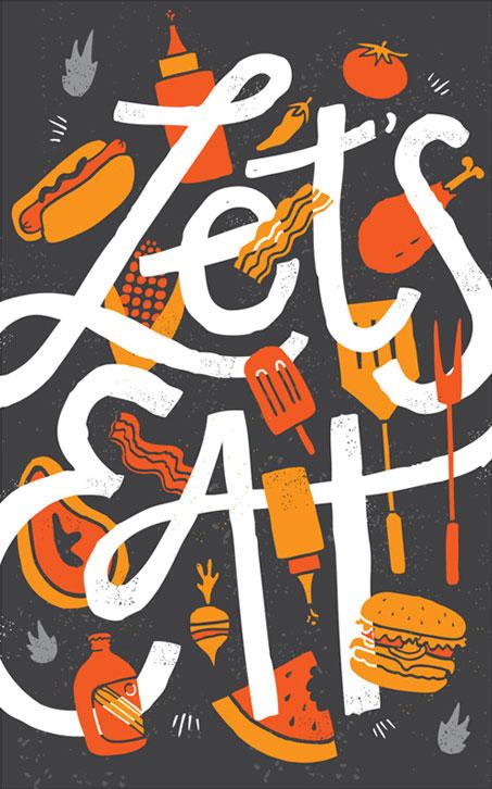 Let's Eat Art Print | Vaughn Fender