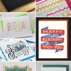 Letterpress Happy Birthday Cards as seen on papercrave.com