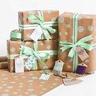 Mint Dotty Gift Wrap | Sophia Victoria Joy