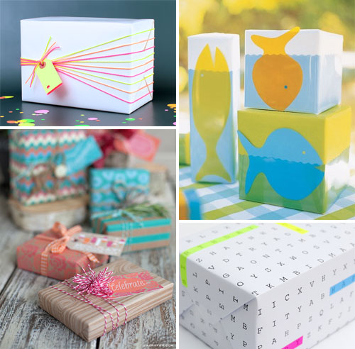 Summery DIY Gift Wrap Ideas