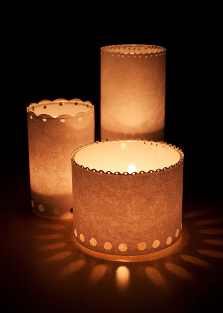 Paper Candle Luminaries by Kristen Magee