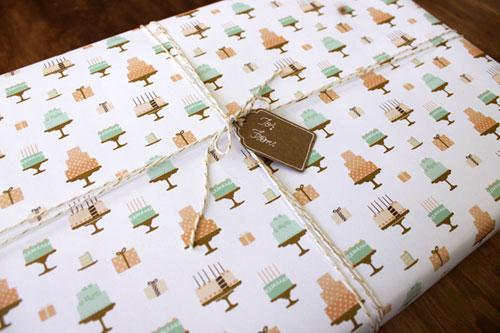 Cakes Gift Wrap | Kate & Birdie