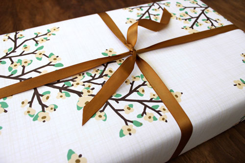 Blossoms Gift Wrap | Kate & Birdie