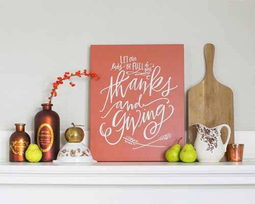 Thanks and Giving Art Print | Lindsay Letters