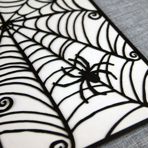 Laser Cut Spiderweb Card | Alexis Mattox Design