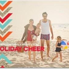 Festive Arrows Geometric Holiday Photo Cards