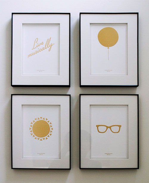 Gold Foil Debossed Prints | Honey & Bloom