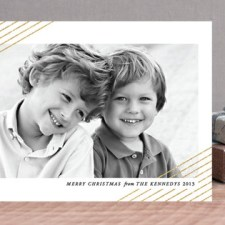 Modern Shimmer Holiday Photo Cards