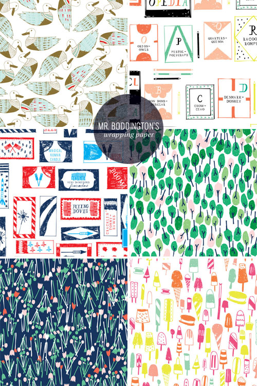Fun, Illustrated Wrapping Paper | Mr. Boddington's Studio