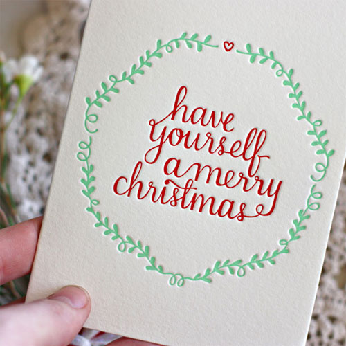 Have Yourself ... Letterpress Christmas Card | Bespoke Press