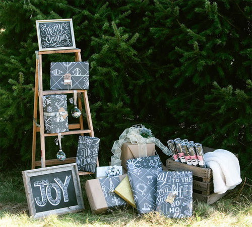 Chalkboard Holiday Wrapping Paper | Lily & Val