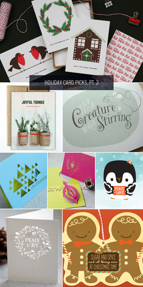 Holiday Card Picks, Pt. 2 as seen on papercrave.com