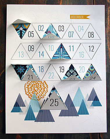 Modern Winter Advent Calendar by JHill Design