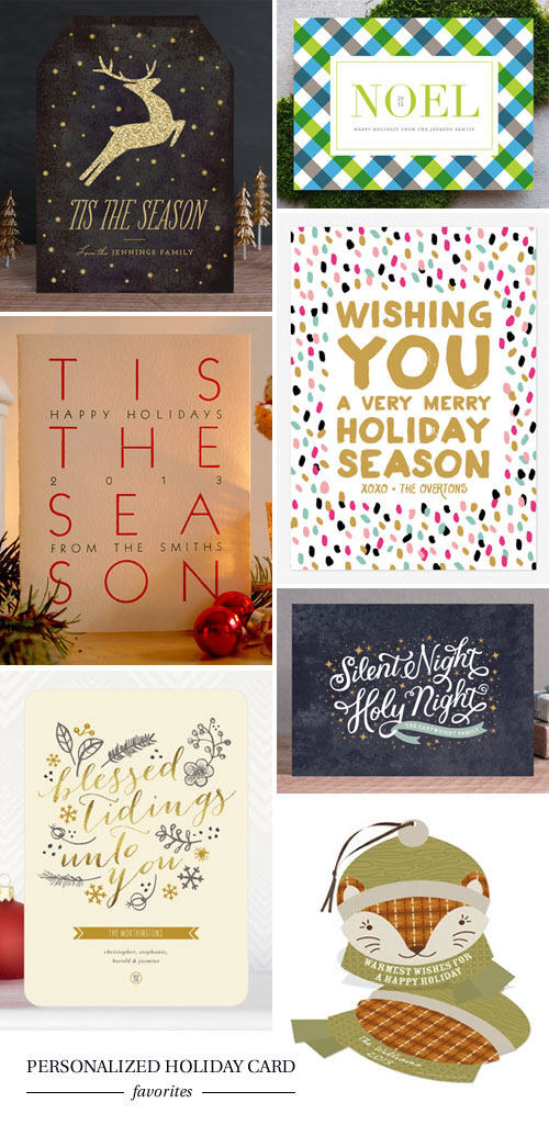 Personalized Holiday Card Favorites as seen on papercrave.com