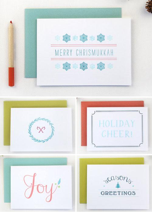 Modern Letterpress Holiday Cards | Rafftruck Designs