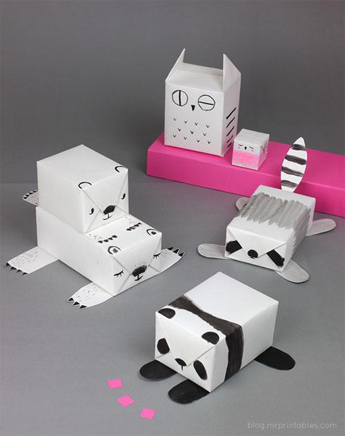 DIY Animal Gift Wrap | Mr. Printables