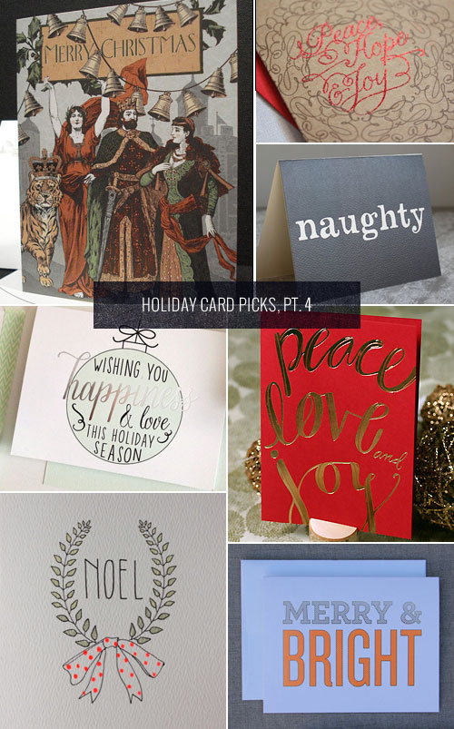 Holiday Card Picks, Pt. 4 as seen on papercrave.com