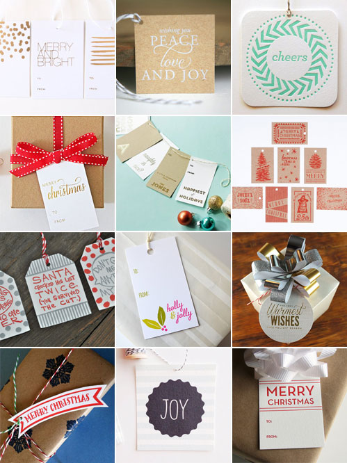 Holiday Gift Tags as seen on papercrave.com