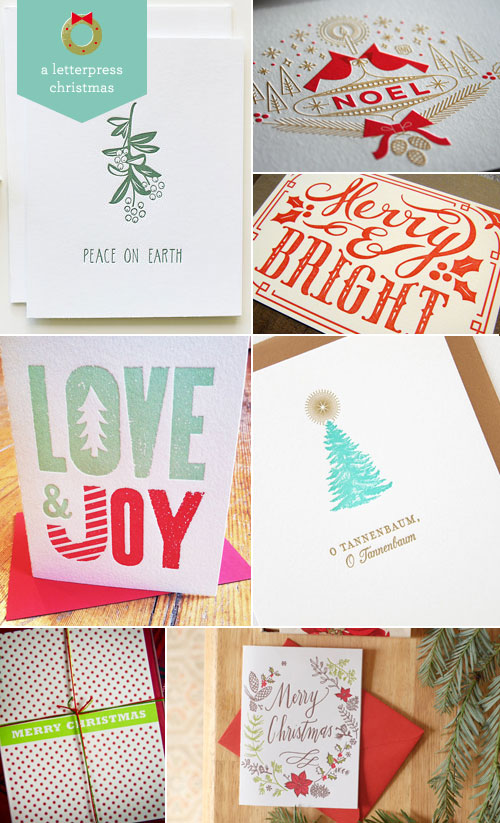 A Letterpress Christmas, Roundup #4 as seen on papercrave.com