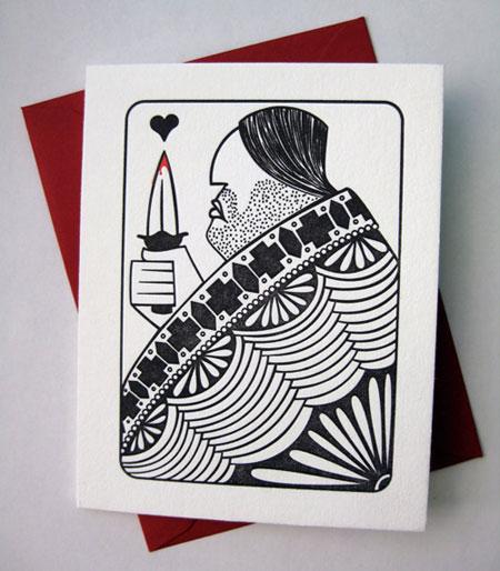 House Rules King of Hearts Letterpress Card | Banshee Press