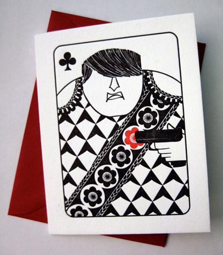 House Rules Jack of Clubs Letterpress Card | Banshee Press
