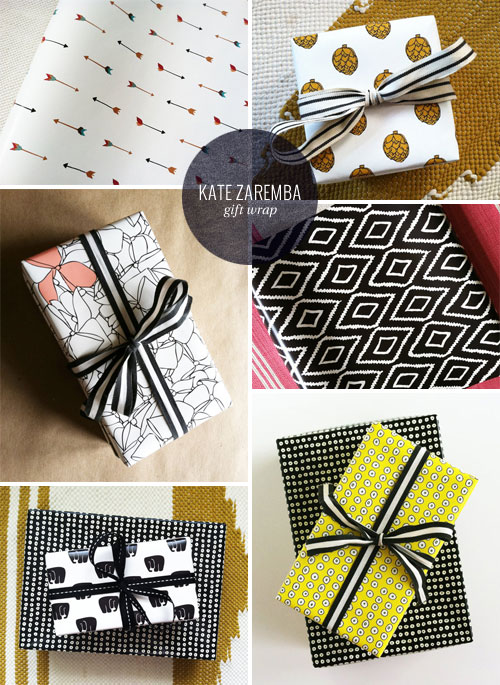 Modern, Patterned Gift Wrap | Kate Zaremba
