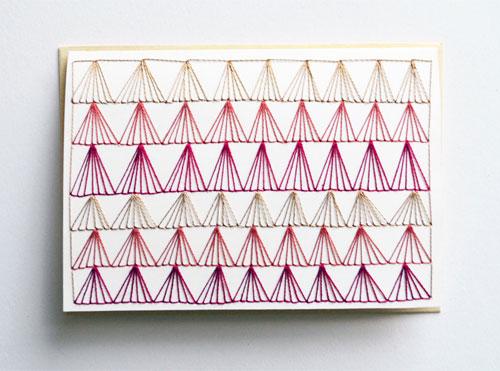 Hand Stitched Note Card | Sarah K. Benning