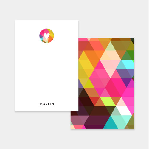 Abstract Geometry Personalized Stationery | Up Up Creative