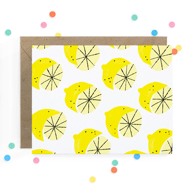 Lemon Print Card | Hooray Today