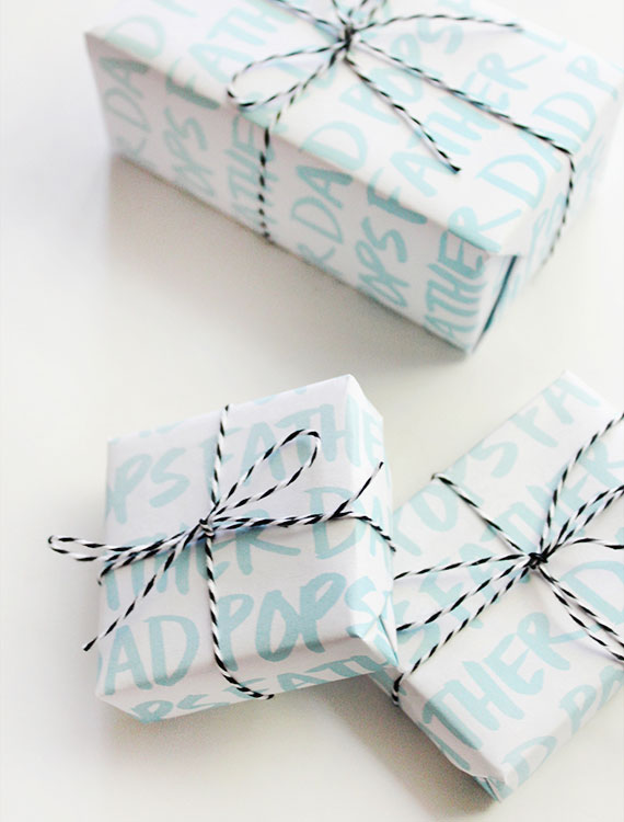 Printable Father's Day Gift Wrap | Almost Makes Perfect