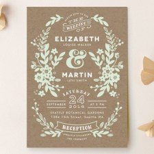 Ampersand Floral Wedding Invitations by Alethea and Ruth