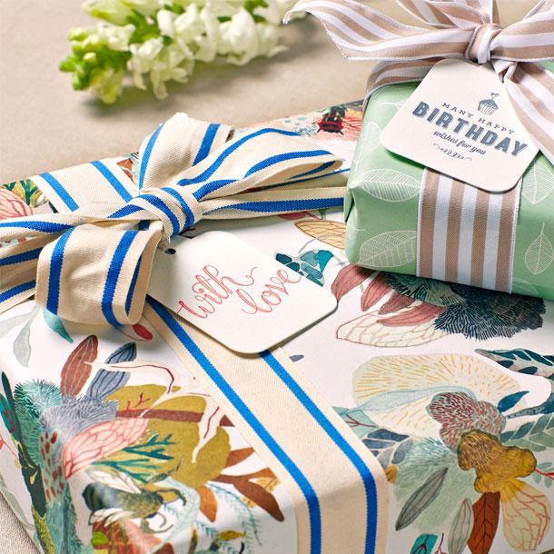 Mint Leaves & Honey Cluster Gift Wrap   Bespoke Letterpress