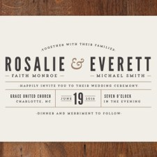 Classic Type Wedding Invitations by Pistols
