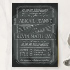 Chalkboard Wedding Invitations by Ann Gardner