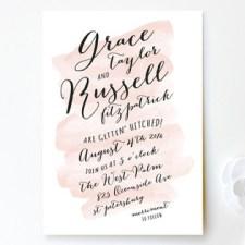 Pastel Watercolor Wash Wedding Invitations by Hooray Creative