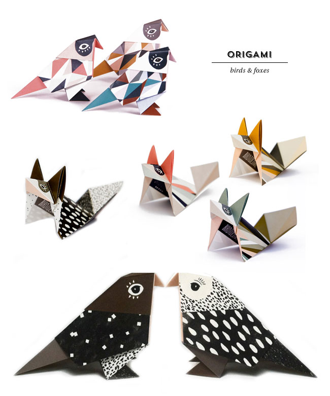 Origami Birds and Foxes | Britta Manger