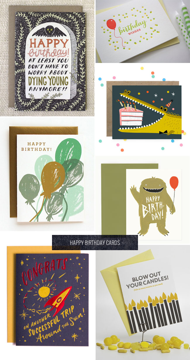Happy Birthday Cards as seen on papercrave.com
