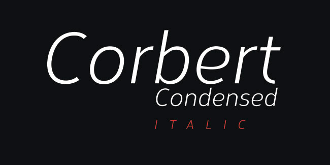 Corbert Condensed Italic Font by The Northern Block (Free)