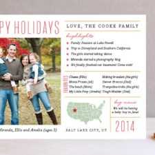 Fun Facts Holiday Photo Cards