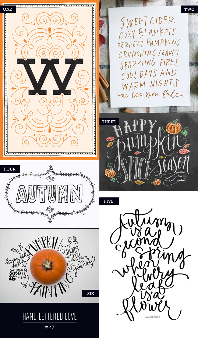 Hand Lettered Love #47 : Autumn Inspired as seen on papercrave.com