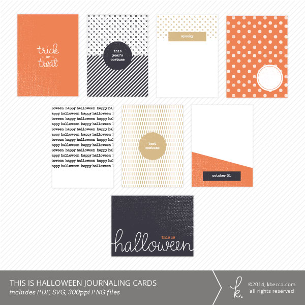 This Is Halloween Printable Journaling Cards at kbecca.com