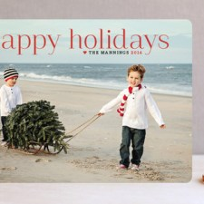Timeless Greeting Holiday Photo Cards