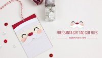 Free Santa Gift Tag SVG Cut Files | Paper Crave