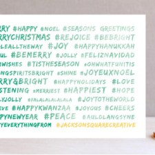 Hashtag Happy Everything Business Holiday Cards
