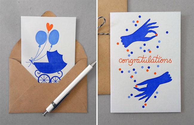 Letterpress Baby & Congrats Cards | Karolin Schnoor