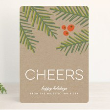 Kraft and Evergreens Business Holiday Cards